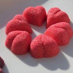Cœur rouge 4g x100 pièces